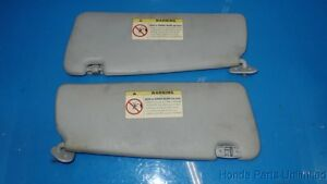 94 99 Bmw 3 Series M3 E36 Oem Sunvisors Sun Visors Shades Gray Stock Good