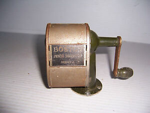 Vintage Boston Model L Pencil Sharpener Wall Desk Mount School Office