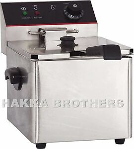 Hakka 3250w Electric Countertop Deep Fryer Single Tank Commercial Restaurant 8l