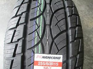 2 New 255 60r15 Nankang Sp 7 Tires 2556015 255 60 15 R15 60r
