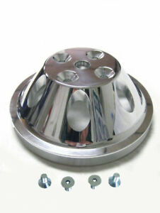 Small Block Mopar Polished Aluminum 1 Groove Upper Water Pump Pulley Bolts