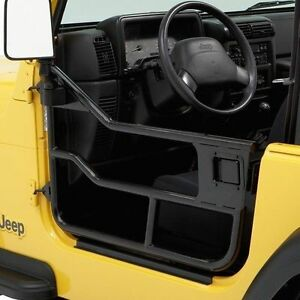 Bestop Element Tube Doors Satin Black For 76 95 Jeep Cj7 Cj8 Wrangler Yj