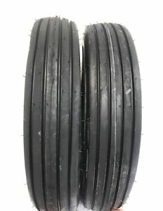 Two 600x16 6 00 16 Rib Implement Farm Tractor Tires W tubes Disc Do all 6 Ply