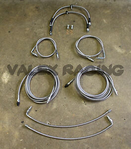Complete Front Rear Brake Line Replacement Kit 96 00 Honda Civic W Rear Drum