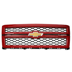 Oem Front Grille Assembly W Black Mesh Victory Red 14 15 Silverado 1500 23194172
