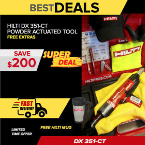 Hilti Dx 351 ct Power Actuated Tool Free Hilti Accessories Durable Fast Ship