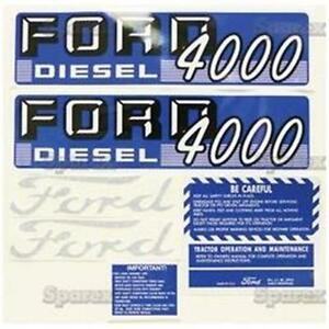 Ford 4000 4 Cyl Diesel 1962 1964 Tractor Replacement Decal Set Kit 67697
