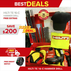 Hilti Te 16 c Drill Drill Chisels Free Smart Watch Extras Fast Shipping
