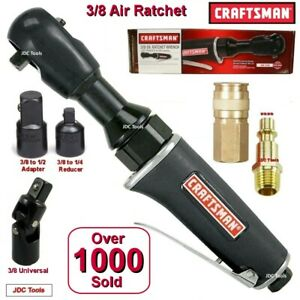 Craftsman 3 8 Drive Air Ratchet Wrench W 1 4 And 1 2 Adapters 3 Tools In 1