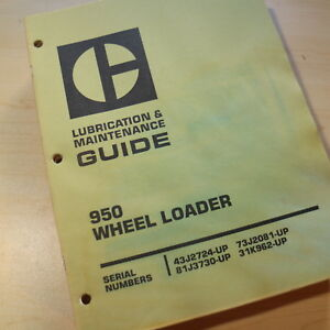 Cat Caterpillar 950 Wheel Loader Maintenance Manual Guide Owner Front End Book