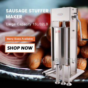 New Hakka 33lb Sausage Stuffer Vertical Stainless Steel 15l Meat Filler Sv 15