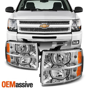 Fit 2007 2013 Chevy Silverado 1500 2500 3500 Replacement Headlights L r Pair