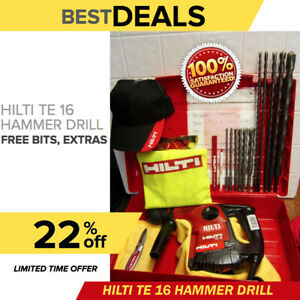 Hilti Te 16 Drill Preowned Durable Free Bits Extras Quick Shipping