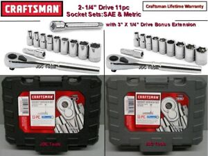 Craftsman Tools 11 Pc 1 4 Drive Sae And Metric Socket Wrench Sets