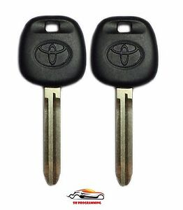 2 New Replacement Ignition Chip Car Fob Key With 4d 67 Transponder For Toyota