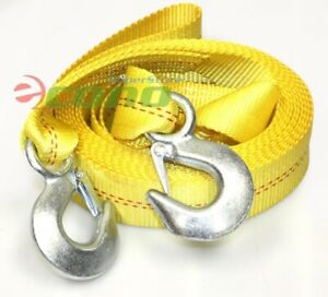 2 X 20ft Tow Strap Rope W 2 Hooks 10 000 Lb Heavy Duty Nylon Towing Straps