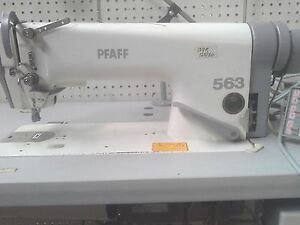 Pfaff Sewing Machine Mn 563g 900 99 Flat Bed Industrial Sewing Machine Used