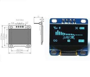 5pcs Blue 0 96 Iic I2c 128x64 Oled Lcd Display Module Arduino stm32 avr 51 New