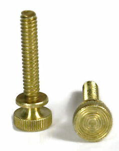 Solid Brass Knurled Head Thumb Screw Machine Screws 1 4 20 Qty 25