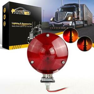 Red Amber Lens 24 Led Truck Trailer Stop Turn Signal Tail Stud Light Double