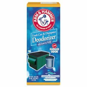 Arm Hammer Unscented Powder Trash Can Dumpster Deodorizer cdc3320084116ct