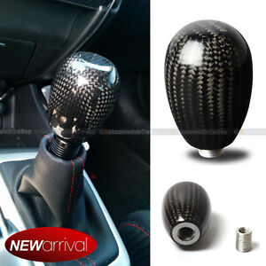 Fit Honda 5 Speed Manual Gear Transmission Real Carbon Fiber Shift Knob