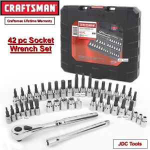 Craftsman 42 Pc 1 4 And 3 8 inch Drive Bit And Torx Bit Socket Wrench Set 99941