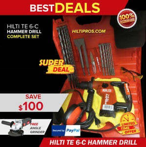 Hilti Te 6 c Hammer Drill Made In Germany Free Extras Durable Fast Ship