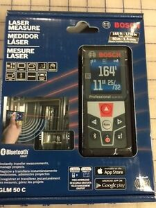 Bosch Glm 50 C Bluetooth Enabled Laser Distance Measurer With Color Backlit D