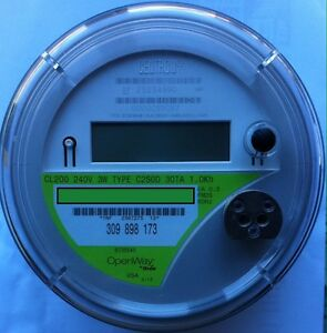 Itron Watthour Meter Kwh C2sod Openway 4 Lugs 240v 200a Fm2s 3w Smart