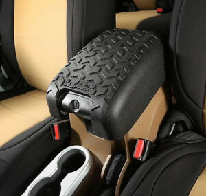 Center Console Arm Rest Cover For Jeep Wrangler Jk 2011 2018 Black 13107 42
