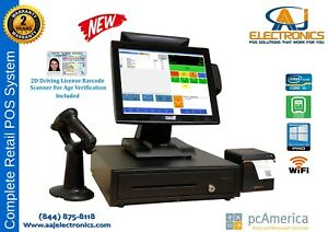 Retail Point Of Sale System cash Register Express Pos Cre W Id Scanner