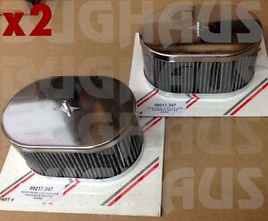 2 X Redline Chrome Air Filter For Weber 40idf 44idf 48idf 3 5 Tall Free Ship