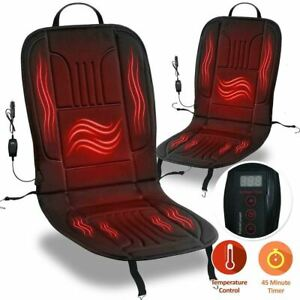 Zone Tech 2x Thickening Heated Car Seat Heater Chair Comfy Pad Cushion Warmer