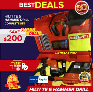 Hilti Te 5 Drill W Drs Free Bits Tablet Made In Germany complete Fast Ship