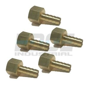 5 Pack 3 8 Hose Barb X 3 8 Female Npt Brass Pipe Fitting Gas Fuel Water Air