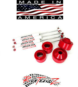 Jeep Wrangler Jk 2007 2015 3 Poly Spacer Lift Kit Doetsch Tech Shocks 4wd Usa