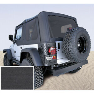 Black Soft Top With Tinted Windows For Jeep Wrangler Tj 97 02 Rugged Ridge