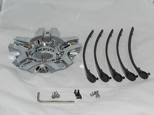 Boss Motorsports 334 3261 Chrome Wheel Rim Center 1 Cap 5 Inserts W Screws