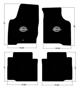 New Black Floor Mats 2006 2014 Chevy Impala Embroidered Logo In Silver Set Of 4