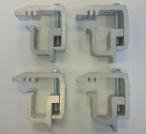 Truck Cap Topper Camper Shell Mounting Clamps Long Reach Heavy Duty 4 Piecetl150