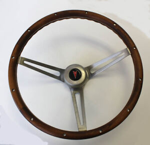 1964 1966 Pontiac Grand Prix Lemans Wood Steering Wheel Walnut 15