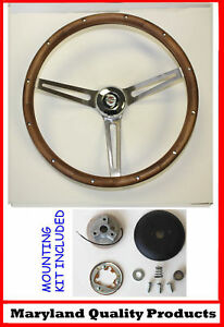 New 1968 1972 Chrysler 300 Grant Wood Steering Wheel Walnut 15 Inch