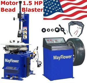 Mayflower 1 5 Hp Tire Changer Wheel Changers Machine Combo Balancer Rim 950 680