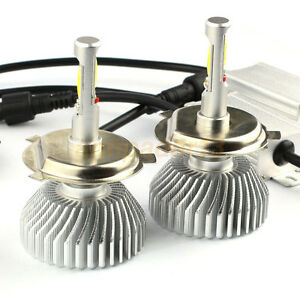60w 6000lm H4 Led Light Headlight Vehicle Car Hi Lo Beam Bulb Kit 6000k White