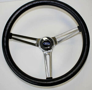49 56 Ford Ranch Wagon Skyliner Grant Black Steering Wheel 15 Ss Spokes