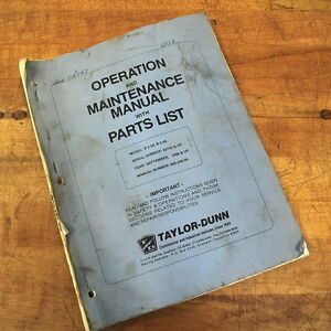 Taylor dunn Mb 248 04 Operation Maintenance Manual With Parts List Used