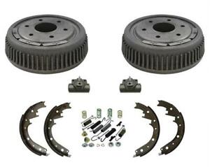 New 11 Inch Size Brake Drums Shoes Wheel Cylinders For Cadillac Escalade 99 00