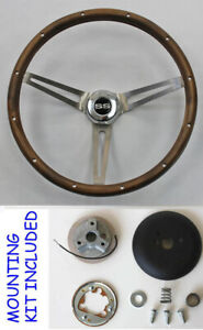 New 1968 Camaro Grant Wood Steering Wheel Ss Center Cap 15 Real Walnut
