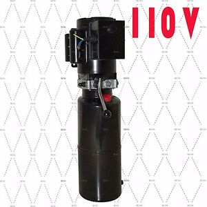 A 110v Car Lift Auto Repair Shop Hydraulic Power Unit 110v 60hz 1 Ph